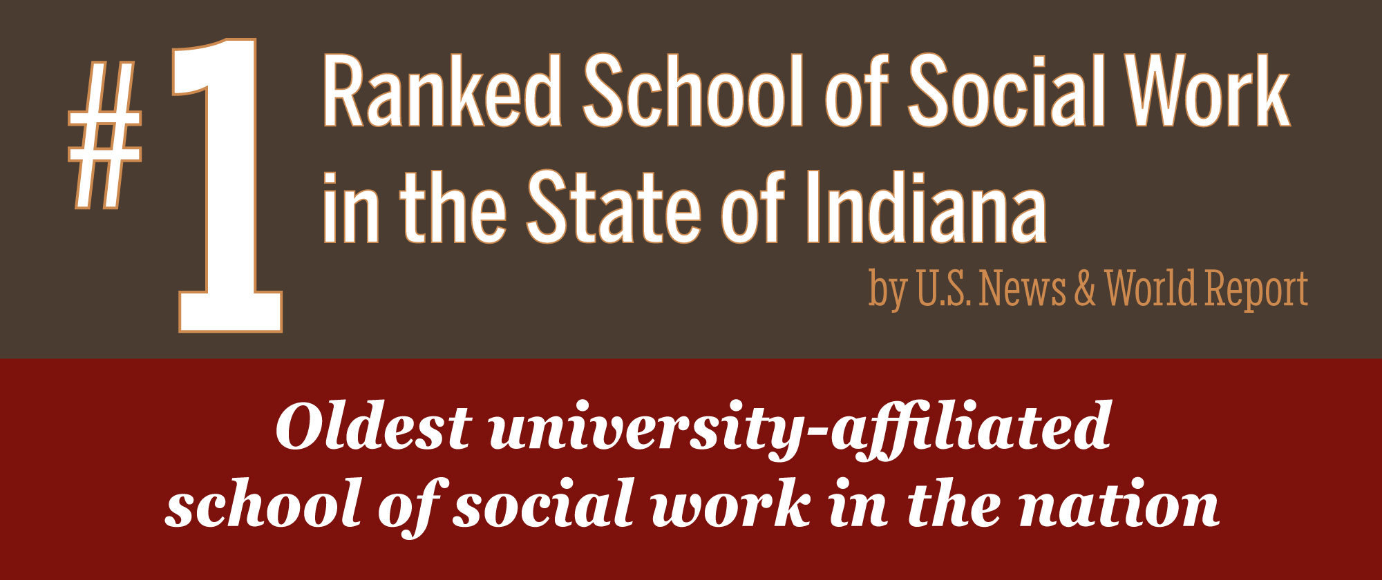 Ranked School of Social Work  in the State of Indiana